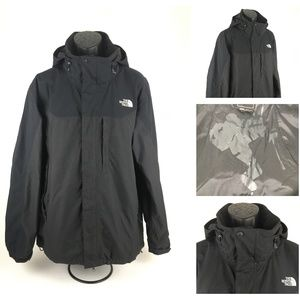 The North Face Mens Hyvent Black Waterproof